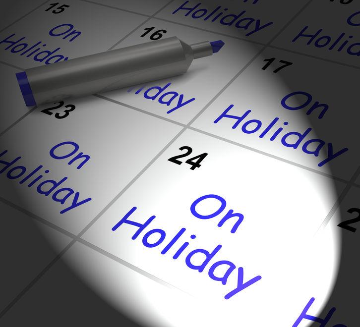 Calendar Marke On Holiday