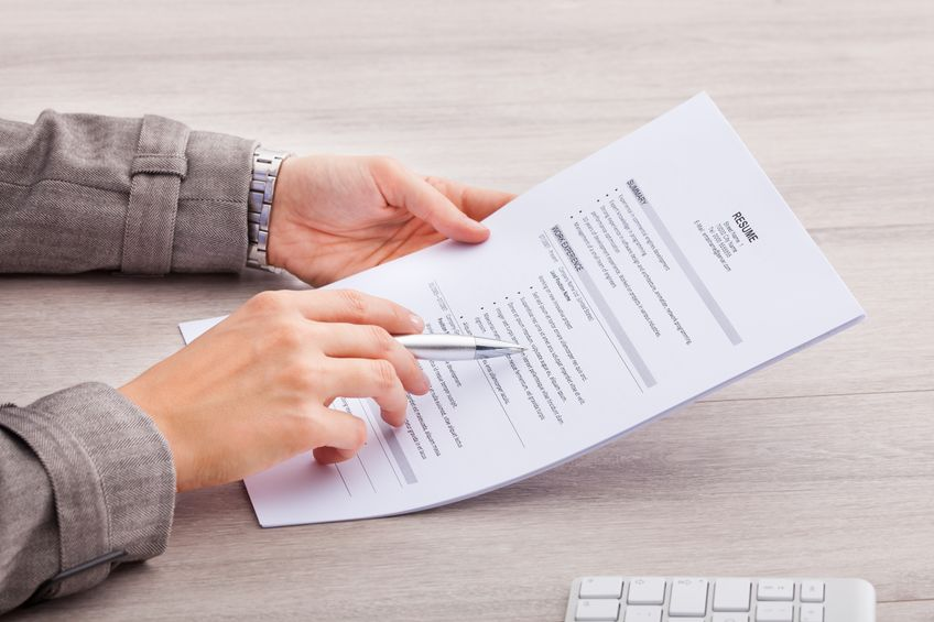 Recruiting Manager Reading A Resume